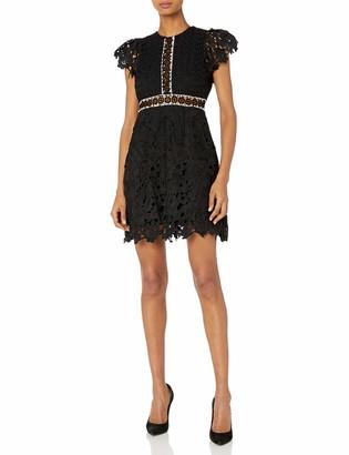 Cynthia Rowley Women's Lace Dress with Ruffles