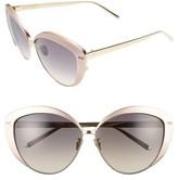 Linda Farrow Women's 62Mm 22 Karat Gold Trim Cat Eye Sunglasses - Black/ Yellow Gold/ Grey
