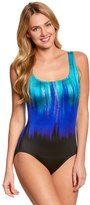 Longitude Shimmer Mist Triple XBack Tank One Piece Swimsuit - 8150547