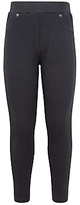 John Lewis Girls' Textured Leggings, Black