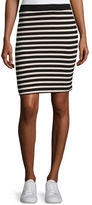 ATM Anthony Thomas Melillo Striped Jersey Pencil Skirt