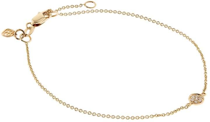 Sydney Evan Yellow Gold And Diamond Disc Bracelet