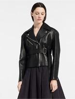 Calvin Klein Bonded Nappa Motorcycle Jacket