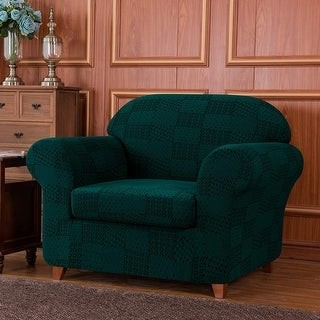 Overstock Subrtex 2-Piece Armchair Slipcovers Stretch Knit Furniture Cover