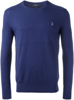 Polo Ralph Lauren logo patch jumper - men - Cotton/Cashmere - M