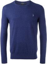Polo Ralph Lauren logo patch jumper - men - Cotton/Cashmere - S