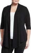 Soybu Meryl 3/4-Sleeve Wrap Cardigan, Black, Plus Size