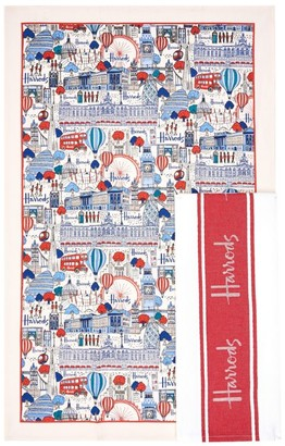 Harrods Pretty City Tea Towel (Set of 2)
