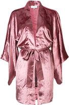 Fleur Du Mal velvet Haori kimono - women - Silk/Viscose - S/M