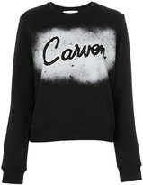 Carven spray paint logo sweatshirt