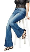 GUESS Charlotte Petite Flare Jeans in Lace Blue Wash