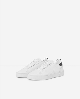 The Kooples White leather trainers thick soles