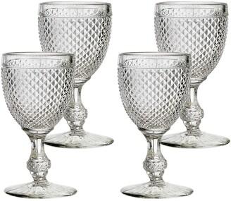 Vista Alegre Bicos Set of 4 Glass Goblets