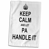 """3D Rose Keep Calm and Let Pa Handle It-Funny Fun Fixer Dad Fathers Day Gift Hand Towel, 15"""" x 22"""""""