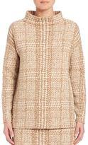 Akris Punto Long Sleeve Jersey Jacquard Funnelneck Sweatshirt