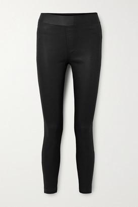 J Brand Dellah Coated High-rise Skinny Jeans - Black