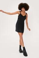 Thumbnail for your product : Nasty Gal Womens Scrunchie Strap Satin Mini Slip Dress
