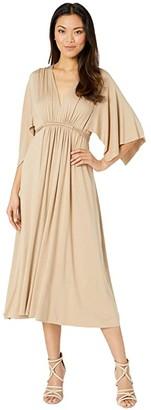 Rachel Pally Jersey Mid-Length Caftan Dress (Toffee) Women's Dress