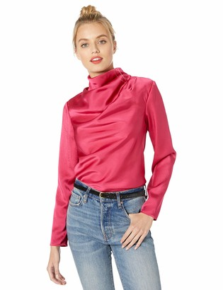 C/Meo Women's Late Thoughts Draped Long Sleeve Blouse Top