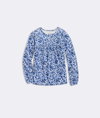 Vineyard Vines Girls' Among The Flowers Knit Top