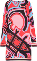 Emilio Pucci Printed Jersey Dress - Coral