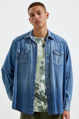 Urban Renewal Vintage Western Denim Snap Button-Down Shirt