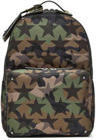 Valentino Camustars Printed Backpack with Leather
