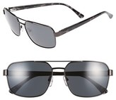 Ted Baker Men's 59Mm Polarized Navigator Sunglasses - Dark Gunmetal