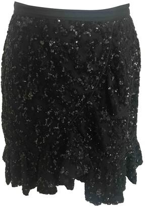 Self-Portrait Black Glitter Skirt for Women