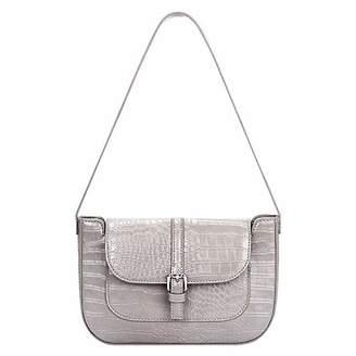 Crocodile Shoulder Bag for Women Retro Baguette Bag Ladies Small Handbag Purse with Short Shoulder Strap