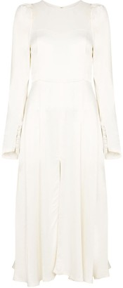 Rotate by Birger Christensen Mathilde front slit midi dress