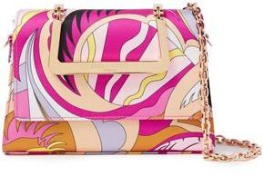 Emilio Pucci Printed Satin-twill Shoulder Bag