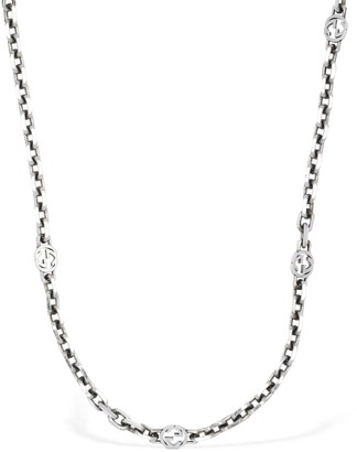 Gucci Interlocking G Long Chain Necklace