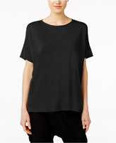 Eileen Fisher Silk & Organic Linen High-Low Sweater Tunic