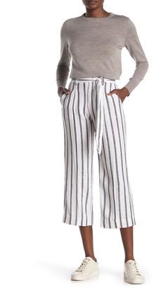 Sanctuary Inland Tie Waist Linen Crop Pants