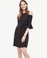 Ann Taylor Petite Cold Shoulder Belted Shift Dress