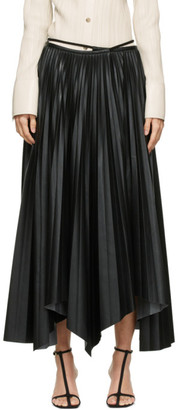 Nanushka Black Vegan Leather Beeja Skirt