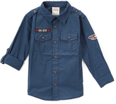 Smiths American Expedition Blue Roll-Tab Sleeve Button-Up - Toddler & Boys