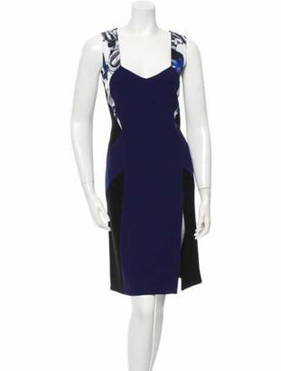 Prabal Gurung Colorblock Sleeveless Dress Black