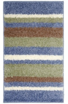 Home Dynamix Avalon Non-Slip Stripe Shaggy Bath Mat Bedding