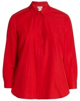 Thumbnail for your product : Lafayette 148 New York, Plus Size Carolyn High-Low Shirt