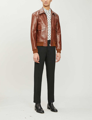 Sandro Aviator leather jacket