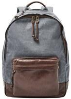 Fossil Men's 'Estate' Canvas Backpack - Grey
