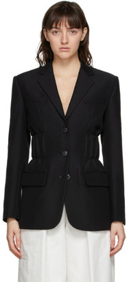 Alexander Wang Black Single-Breasted Cinched Blazer