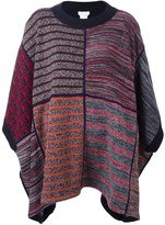 See by Chloe patchwork knitted poncho - women - Wool/Acrylic/Cotton - XS/S