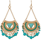Natasha Accessories Fringed Chandelier Earrings