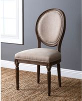Abbyson Living® French Vintage Linen Round Dining Chair in Wheat