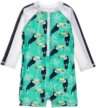 Snapper Rock Toucan Talk One-Piece Rashguard Swimsuit