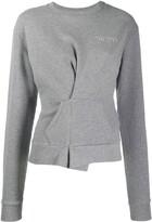 Unravel Project wrap detail sweatshirt