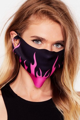 Nasty Gal Womens The Flame Game Fashion Face Mask - Pink - ONE SIZE, Pink